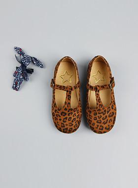 <font color=#8e5b69>* JKIDS 2016 *</font> <br> Tea leopard flat shoes