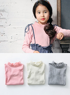 "<font color=#edb200>* JKIDS 2017 F ​​/ W *</font> <br> Milk frills <br> <font color=""#9f9f9f"">♡ Girls Feeling Frill Neck ♡ <br> Elasticity good ground!</font>"