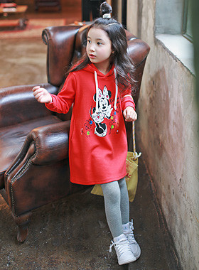 "<font color=#8e5b69><font color=#8c4458>*</font> JKIDS 2016 F / W *</font> <br> Hood Mini Dress <br> <font color=""#9f9f9f"">♡ ♡ pop of red color <br> Cute Hood back</font>"
