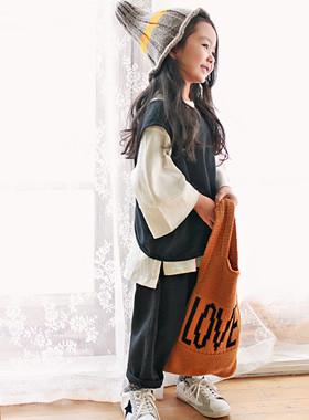 """<font color=#8e5b69><font color=#8c4458>*</font> JKIDS 2016 F / W *</font> <br> LOVE knitting bag <br> <font color=""""#9f9f9f"""">* Vintage sensibility knit back * <br> * ♥ * kid, mom</font>"""