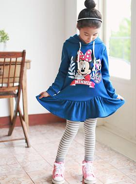 "<font color=#8e5b69><font color=#8c4458>*</font> JKIDS 2016 F / W *</font> <br> Laurel Hood Dress <br> <font color=""#9f9f9f"">Vivid Blue * fresh * <br> * More * Printing with cute,</font>"