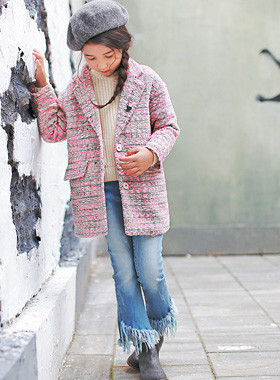 "<font color=#8e5b69><font color=#8c4458>*</font> JKIDS 2016 F / W *</font> <br> Tweed jacket assembly <br> <font color=""#9f9f9f"">♡ ♡ stylish tweed jacket <br> Five tastefully with Buffett!</font> <br> <font color=""#a84c59""><b>* SALE *</b></font>"