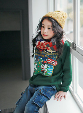 """<font color=#8e5b69><font color=#8c4458>*</font> JKIDS 2016 F / W *</font> <br> Enchanted brushed One on one <br> <font color=""""#9f9f9f"""">Top ♡ ♡ casual daily <br> Adorable opposite Mickey, Minnie printing!</font>"""