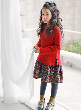 "<font color=#8e5b69><font color=#8c4458>*</font> JKIDS 2016 F / W *</font> <br> Lynn Avon knitted dress <br> <font color=""#9f9f9f"">Shah Lala ~ ♡ ♡ flare line <br> Unique layered type!</font>"