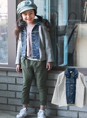 "<font color=#b784c6><font color=#c498d1>*</font> JKIDS 2016 S / S *</font> <br> Wearing denim cardigan <br> <font color=""#9f9f9f"">This one ♡ 2in1 cardigan and layered look cheongjaket ♡</font> <br> <font color=""#a84c59""><b>* 50% SALE *</b></font>"