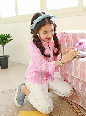"<font color=#4bb999>* JKIDS 2017 S / S *</font> <br> Loving checked shirt <br> <font color=""#9f9f9f"">* Pretty Pink cross ♥ * <br> * lovely check shirt *</font>"
