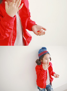 "<font color=#4bb999>* JKIDS 2017 S / S *</font> <br> Red non-air jumper <br> <font color=""#9f9f9f"">* stylish blouson * <br> * Must hebeu items *</font>"