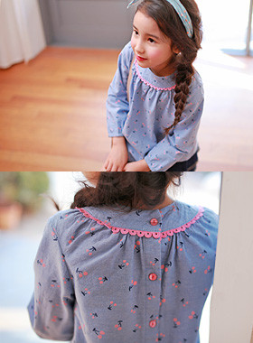 "<font color=#4bb999>* JKIDS 2017 S / S *</font> <br> Isobel blouse <br> <font color=""#9f9f9f"">♡ Cute ♡ neck race <br> Cute, cherry printing!</font>"