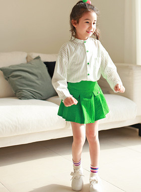 "<font color=#4bb999>* JKIDS 2017 S / S *</font> <br> Weekly Shirt Skirt SET <br> <font color=""#9f9f9f"">* Youthful refreshing green color * <br> * Neat * Special Look</font>"