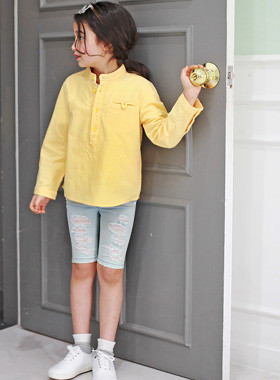 "<font color=#4bb999>* JKIDS 2017 S / S *</font> <br> Henry Mu-neck shirt <br> <font color=""#9f9f9f"">♡ ♡ charmer Henry Neck <br> Refreshing yellow color!</font>"