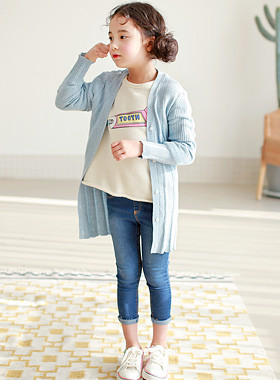 "<font color=#4bb999>* JKIDS 2017 S / S *</font> <br> Mime Corrugated Long Cardigan <br> <font color=""#9f9f9f"">♡ ♡ mature well-made <br> Yeori a corrugated weave!</font>"