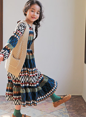 "<font color=#4bb999>* JKIDS 2017 S / S *</font> <br> Liang Maxi Dress <br> <font color=""#9f9f9f"">* * Ethnic style luxury <br> Graced by ronghan length * *</font>"