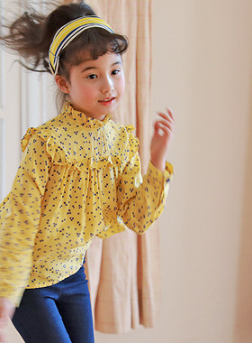 "<font color=#4bb999>* JKIDS 2017 S / S *</font> <br> Maison ruffle blouse <br> <font color=""#9f9f9f"">* Emotional * Lovely yeori yeori <br> * Retro trendy blouse *</font>"