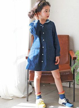 "<font color=#4bb999>* JKIDS 2017 S / S *</font> <br> Sailor Denim One Piece <br> <font color=""#9f9f9f"">♡ ♡ back-to-school look deungwon <br> Seukulruk One Piece!</font>"