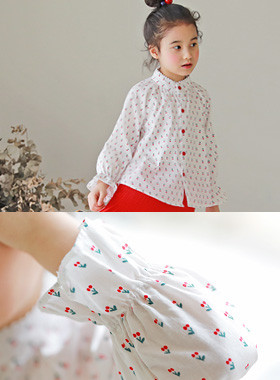 "<font color=#4bb999>* JKIDS 2017 S / S *</font> <br> Cherry blouse <br> <font color=""#9f9f9f"">Adorable opposite pattern ♡ ♡ Cherry <br> Lovely Blanc!</font>"