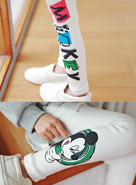 "<font color=#4bb999>* JKIDS 2017 S / S *</font> <br> Mickey color leggings <br> <font color=""#9f9f9f"">♡ ♡ cute Mickey printing <br> Toktok the texture!</font>"