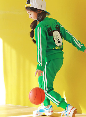 "<font color=#4bb999>* JKIDS 2017 S / S *</font> <br> Mickey zip down SET <br> <font color=""#9f9f9f"">Fresh green color * * <br> * Trendy mood down SET *</font>"