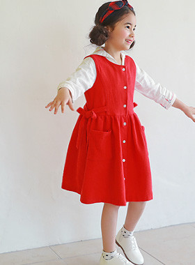 "<font color=#4bb999>* JKIDS 2017 S / S *</font> <br> Rosemary Dress <br> <font color=""#9f9f9f"">* Vivid Vivid Red * <br> * Beautifully, lovingly *</font>"