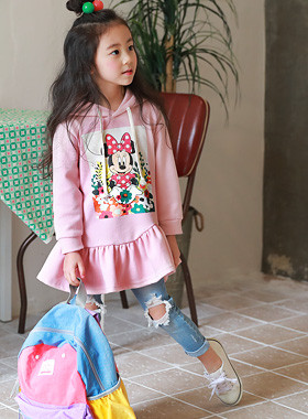 "<font color=#4bb999>* JKIDS 2017 S / S *</font> <br> Hood Mini Dress <br> <font color=""#9f9f9f"">♡ ♡ romantic hem shirring <br> Sporty hood-type!</font>"