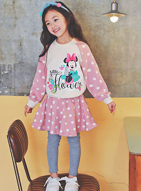 "<font color=#4bb999>* JKIDS 2017 S / S *</font> <br> Mini dot down SET <br> <font color=""#9f9f9f"">* Cute * dot printing <br> * lovely Minnie Mouse! *</font>"