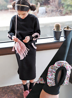 "<font color=#4bb999>* JKIDS 2017 S / S *</font> <br> Blossom Up and Down SET <br> <font color=""#9f9f9f"">* On a chic black * <br> * unique flower frills *</font>"