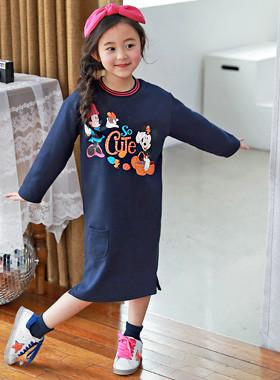 "<font color=#4bb999>* JKIDS 2017 S / S *</font> <br> Cute mini dress <br> <font color=""#9f9f9f"">* Easy wearing * <br> * Disney Genuine Character *</font>"