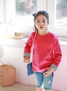 "<font color=#4bb999>* JKIDS 2017 S / S *</font> <br> Hilda One on one <br> <font color=""#9f9f9f"">♡ ♡ stripe roll up sleeves <br> Eonbalreonseu hem back and forth!</font>"