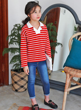 "<font color=#4bb999>* JKIDS 2017 S / S *</font> <br> Header karati <br> <font color=""#9f9f9f"">* stylish Stripe * <br> * Open-PoloTShirt *</font>"