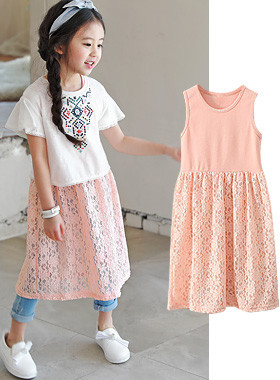 "<font color=#4bb999>* JKIDS 2017 S / S *</font> <br> Titi lace dress <br> <font color=""#9f9f9f"">* Silhouette * yeori yeori <br> * * layered kkultem</font>"