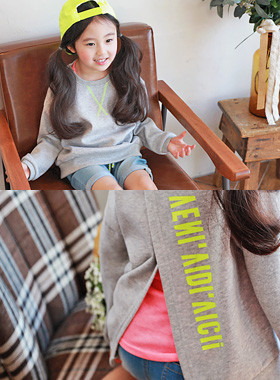 "<font color=#4bb999>* JKIDS 2017 S / S *</font> <br> One on one back slit <br> <font color=""#9f9f9f"">♡ ♡ points back slash teuim <br> English hot color printing!</font>"