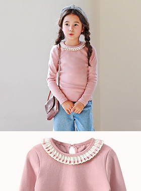 "<font color=#4bb999>* JKIDS 2017 S / S *</font> <br> Invite as ruffles angtteu <br> <font color=""#9f9f9f"">* Too * pretty frill neck <br> * lovely * Emotional T-shirts</font>"