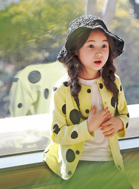"<font color=#4bb999>* JKIDS 2017 S / S *</font> <br> Big Dot Cardigan <br> <font color=""#9f9f9f"">* Dongle, dongle cute! * <br> * Fresh yellow color *</font>"