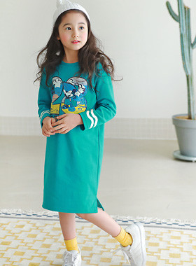 "<font color=#4bb999>* JKIDS 2017 S / S *</font> <br> Malibu Dress <br> <font color=""#9f9f9f"">♡ ♡ comfort, simple lines + <br> Yeopteuim good activity!</font>"