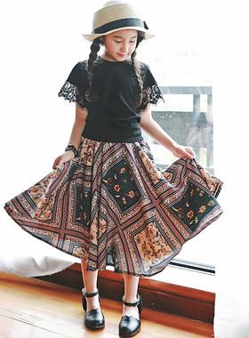 "<font color=#4bb999>* JKIDS 2017 S / S *</font> <br> Ashley Long Skirt <br> <font color=""#9f9f9f"">♡ ♡ fresh flower <br> Mood color that matches!</font>"