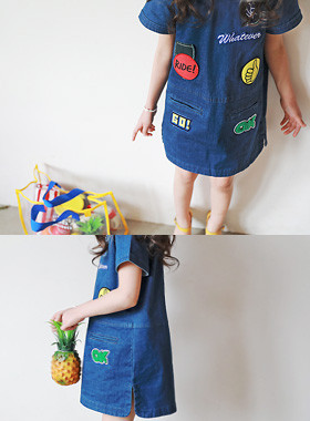 """<font color=#4bb999>* JKIDS 2017 S / S *</font> <br> Everton Watford Denim Dress <br> <font color=""""#9f9f9f"""">♡ ♡ variegated refreshing patch <br> Cute denim dress!</font> <br> <font color=""""#a84c59"""">* Reservation sale! * <br> May will be shipped one day</font>"""