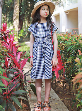"""<font color=#4bb999>* JKIDS 2017 S / S *</font> <br> Emma checked dress <br> <font color=""""#9f9f9f"""">♡ ♡ Cute ruffles banding <br> To clean and tidy!</font>"""
