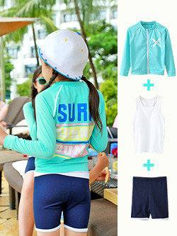 <font color=#b784c6><font color=#c498d1>*</font> JKIDS 2016</font> <font color=#c498d1>S / S</font> <font color=#b784c6>*</font> <br> Rash Guards Surfing zip SET