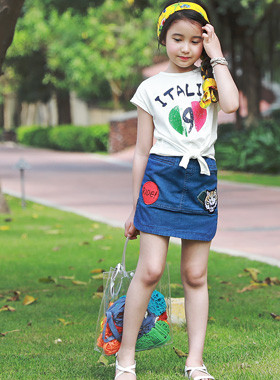 "<font color=#4bb999>* JKIDS 2017 S / S *</font> <br> Rock and roll denim skirt <br> <font color=""#9f9f9f"">* Nourishment! <br> * Front, back *</font>"