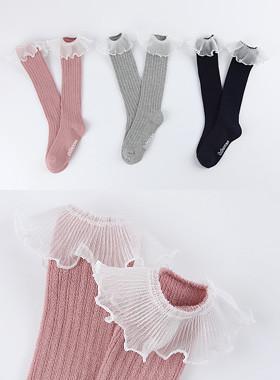 <font color=#4bb999>* JKIDS 2017 *</font> <br> Kkotbi lace knee socks