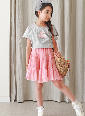 "<font color=#4bb999>* JKIDS 2017 S / S *</font> <br> Soft cream up and down SET <br> <font color=""#9f9f9f"">♡ T-shirt + Skirt set ♡ <br> Lovely Tutu Skirt!</font>"