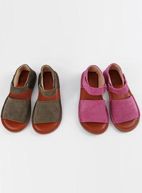 <font color=#4bb999>* JKIDS 2017 *</font> <br> Leather Wide Sandals