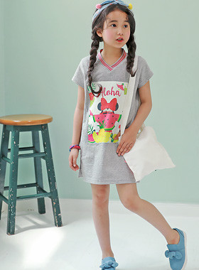 "<font color=#4bb999>* JKIDS 2017 S / S *</font> <br> Watermelon mini dress <br> <font color=""#9f9f9f"">♡ Two Line V neck ♡ <br> Fresh fruit + mini character!</font>"