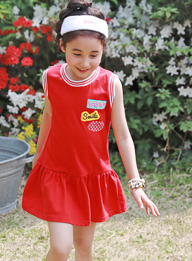 "<font color=#4bb999>* JKIDS 2017 S / S *</font> <br> Wow Mini Dress <br> <font color=""#9f9f9f"">♡ back mini character ♡ <br> Hot red color!</font>"