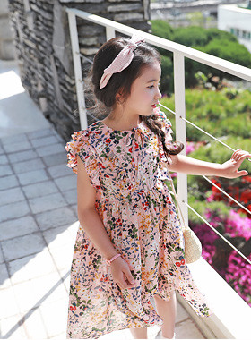 "<font color=#4bb999>* JKIDS 2017 S / S *</font> <br> Calico chiffon dress <br> <font color=""#9f9f9f"">Lovely Freel Sleeves ♡ <br> Cool chiffon fabric lightweight!</font>"