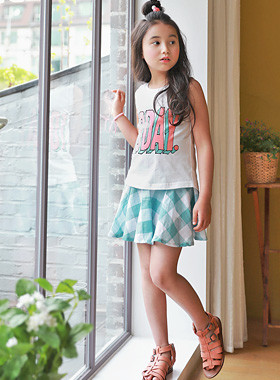 "<font color=#4bb999>* JKIDS 2017 S / S *</font> <br> Thio check up and down SET <br> <font color=""#9f9f9f"">SET ♡ <br> Summer season Summer season!</font>"