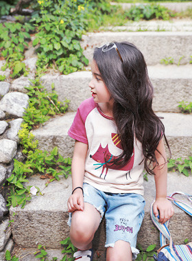 "<font color=#4bb999>* JKIDS 2017 S / S *</font> <br> Animal Washing Tee <br> <font color=""#9f9f9f"">* Style up with one T-shirt! * <br> * Vintage Sensibility Daily T *</font>"