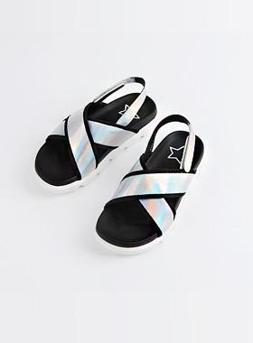<font color=#4bb999>* JKIDS 2017 *</font> <br> X-Hologram Sandals