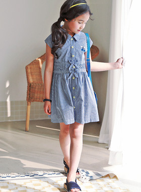 "<font color=#4bb999>* JKIDS 2017 S / S *</font> <br> Chuchu check dress <br> <font color=""#9f9f9f"">* Our child is the best! <br> * Snow or summer dress * ♪ *</font>"