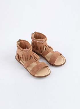 <font color=#4bb999>* JKIDS 2017 *</font> <br> High cut fringe sandals