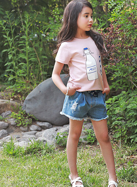 """<font color=#4bb999>* JKIDS 2017 S / S *</font> <br> Delight denim pants <br> <font color=""""#9f9f9f"""">I'm so cute. <br> * Truth to be ripped off this summer! *</font>"""